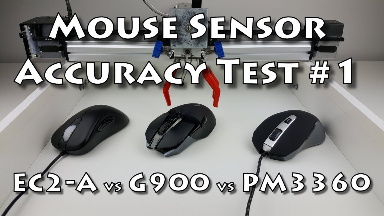 Mouse Sensor Accuracy Test #1 (G900 vs EC2-A vs PM3360