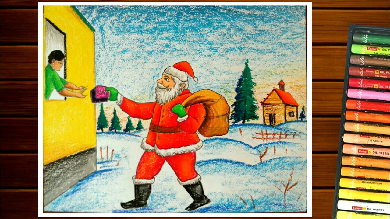 Christmas Day Drawing Images.Christmas Day Drawing Competition How To Draw Santa Claus Easy