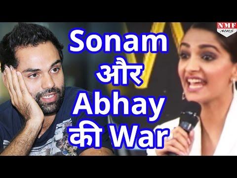 Sonam kapoor और Abhay Deol  में हुई War, Tweet कर निकाली भड़ास