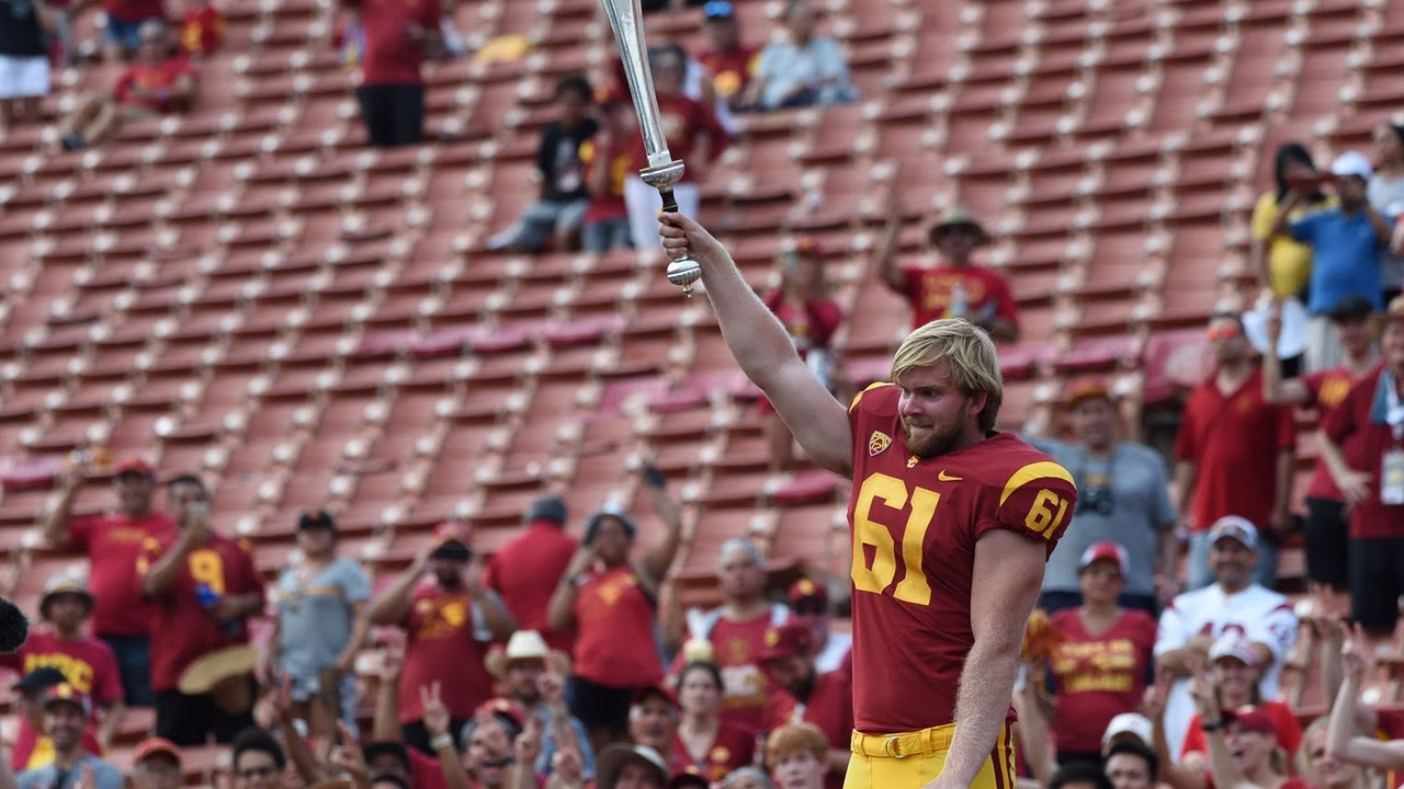 7cd744178e865d USC s blind long snapper Jake Olson on his PAT   I want other people to be  inspired to do what.