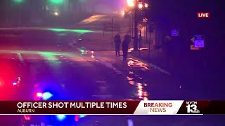Auburn police officer shot