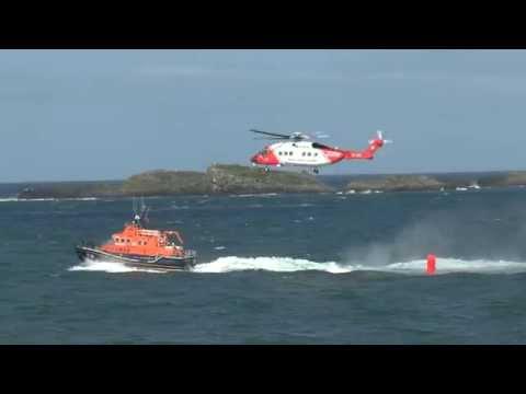 [HD1080p50] Irish Coastguard Sikorsky S-92 + Portrush Lifeboat @ Air Waves Portrush 2015
