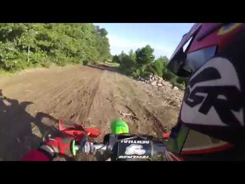 RIPPING THE BIKES AT THE FARM !! DEER ALMOST KILLS RIDER !!