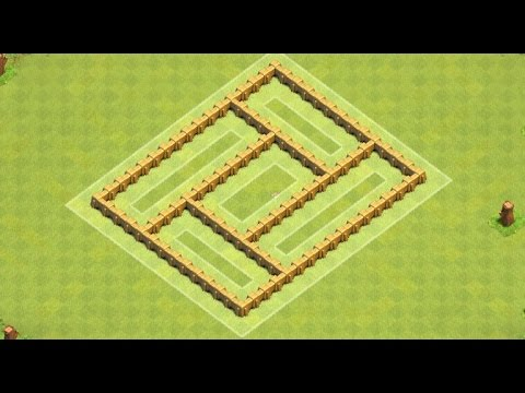 Clash Of Clans Town Hall 5 Troll / trophy base ! trolling Th5 Base + replays