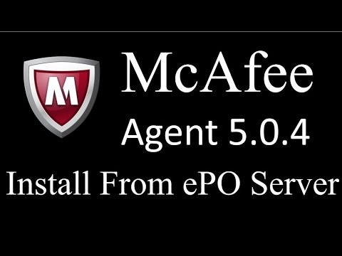 How to Install McAfee Agent from ePO Server