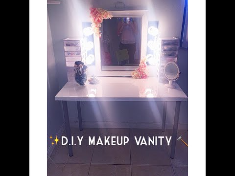 DIY Makeup Vanity  BUDGET FRIENDLY  Monica Ferraro