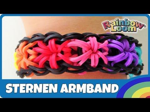 RainbowLoom Sternen-Armband – deutsche Anleitung