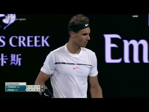 Last 5 games with commentary   Federer Nadal Australian Open 2017