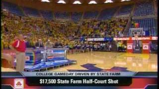West Virginia Fan dunks on Gameday