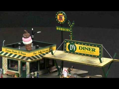 D's Diner – HO Scale Pre-Fab™ Building Kit | Woodland Scenics®