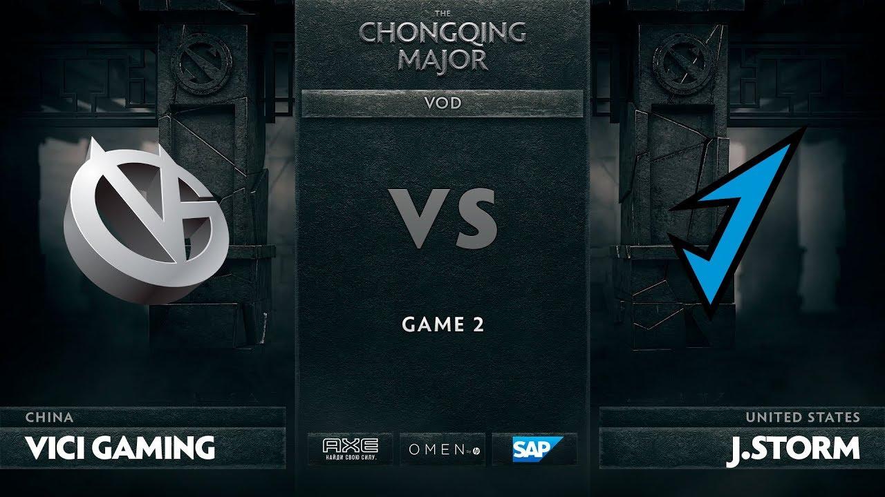 [RU] Vici Gaming vs J.Storm, Game 2, The Chongqing Major Group C