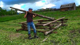 Стройка  на участке/ ремонт в бане/покос травы / будни в деревне