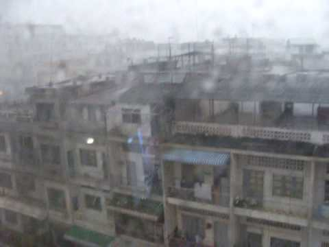 Cambodia thunderstorm in Phnom Penh