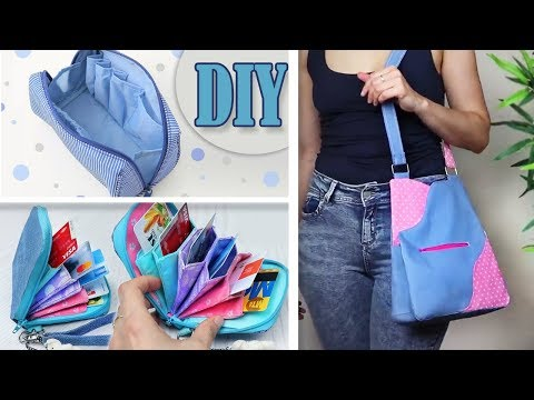 3 DIY TRENDY PURSE BAG & POUCH TUTORIAL // Fast Making Bag Ideas