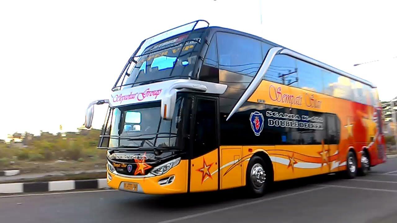 Top Bus Double Decker Dan Triple Axle Indonesia Youtube
