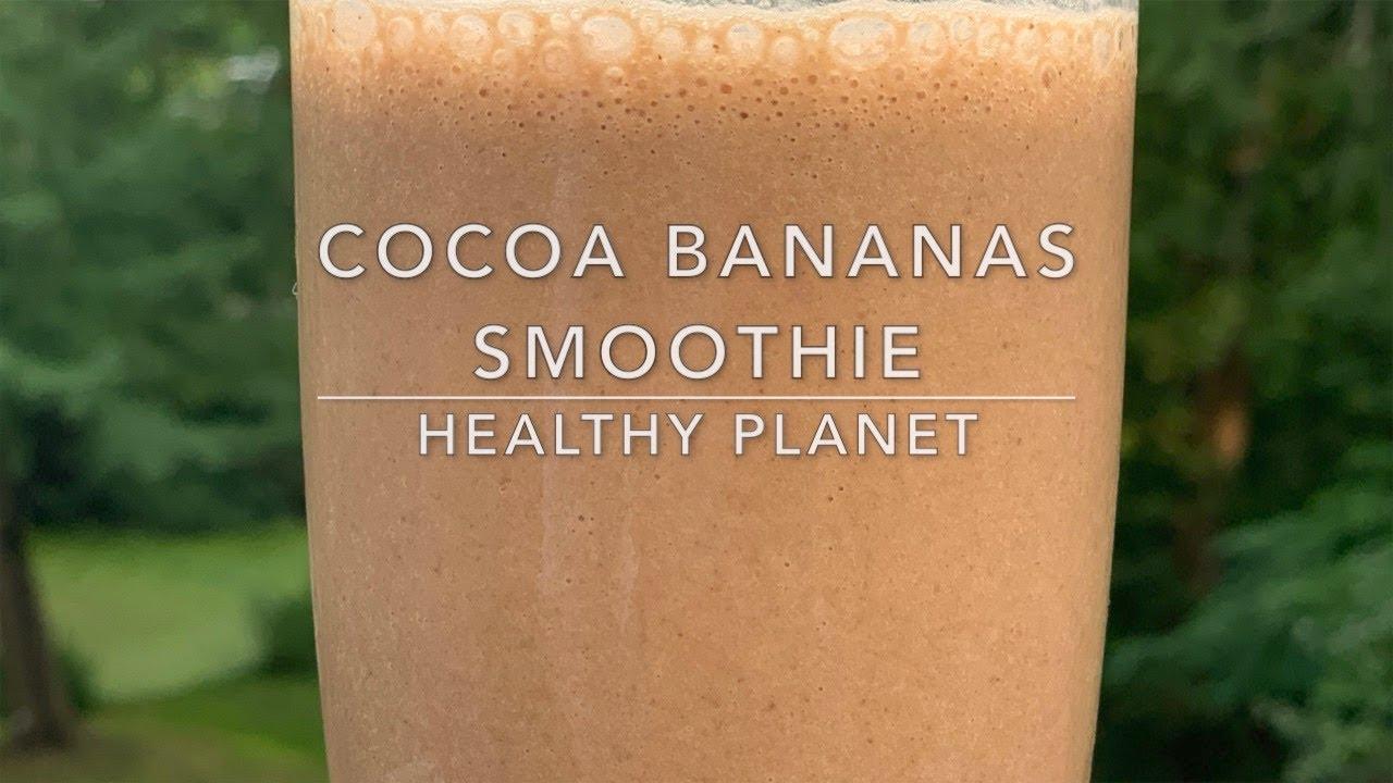 Cocoa Banana Vegan Smoothie