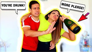 D.R.U.N.K PRANK ON HUSBAND!! *Bad Idea* | Jancy Family