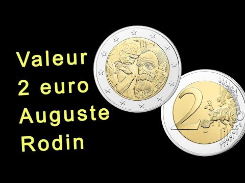 Valeur pièce 2 euro Auguste Rodin