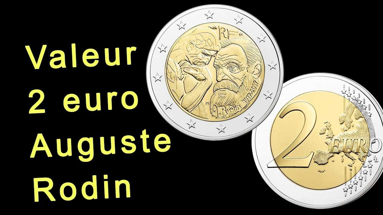valeur piece 2 euro auguste rodin