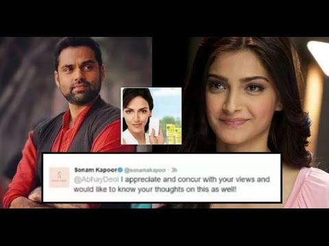 Sonam Kapoor Fights With Abhay Deol On Twitter.