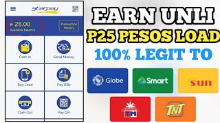 earn unlimited P25 pesos load|freeload|freeload app 2020|how to earn free load |libreng load