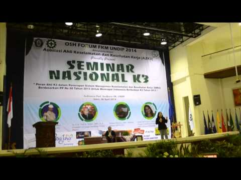 Promoting Occupational Safety & Health Culture in Indonesia presented by Dr. Hanifa Denny