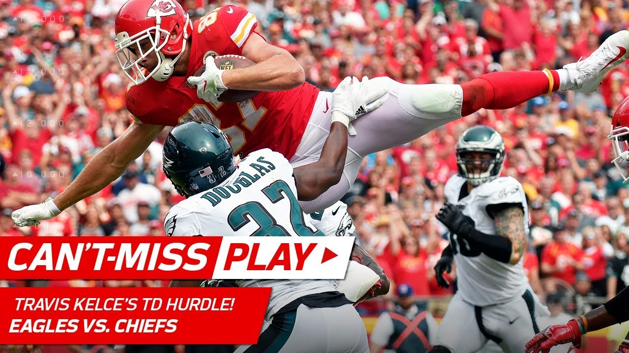 Travis Kelce Looks Like an Olympic Long Jumper on this TD Hurdle