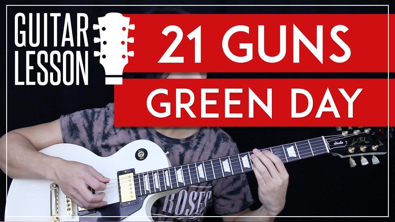 21 Guns Guitar Tutorial Green Day Guitar Lesson Tabs Solo
