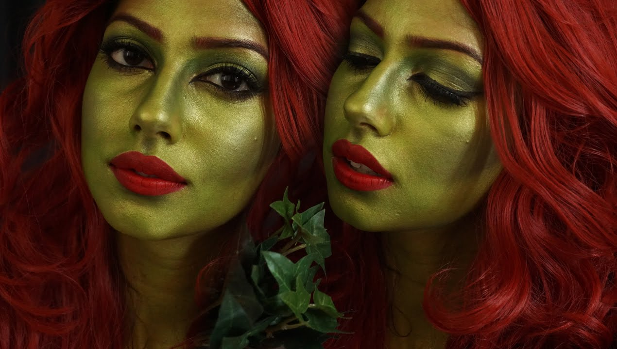 easy POISON IVY Halloween Makeup Tutorial