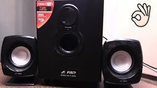 F amp D F-203G 2 1 Channel Multimedia Speakers System review and Unboxing Hindi