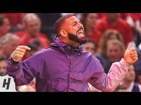 All Drake Reactions from Game 3  May 19 2019 NBA Playoffs