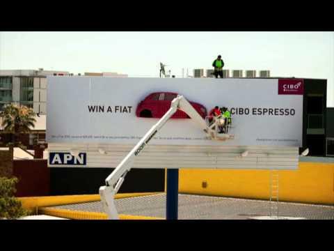 WIN A FIAT AT CIBO ESPRESSO BILLBOARD