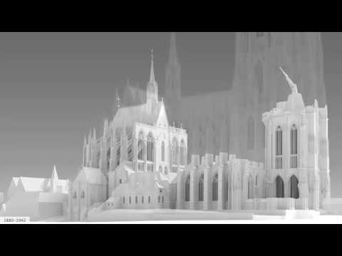 Die Bauphasen Des Kolner Domes Und Seiner Vorgangerbauten 2017 Youtube
