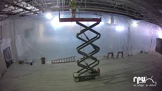 10,000 Square foot concrete pour interior Time Lapse