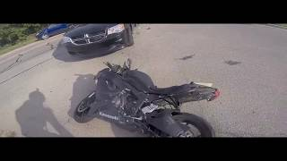 Epic Long Police Chase with a crash ! Police vs Motorcycle