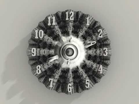 12 hours fractal clock
