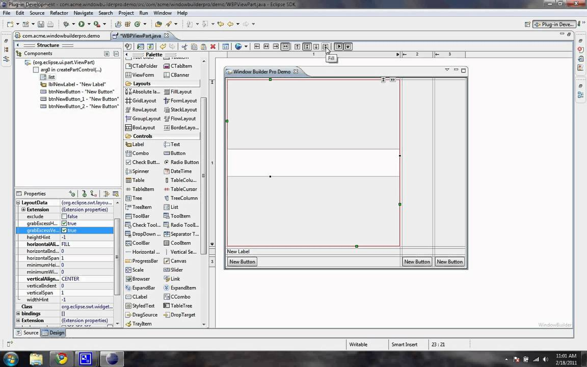 Windowbuilder pro swt development youtube for Windowbuilder