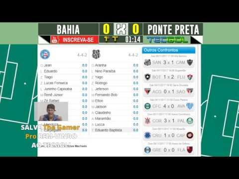 BAHIA X PONTE PRETA AO VIVO COM PARCIAIS DO CARTOLA FC! [NARRAÇÃO COMPLETA] BRASILEIRÃO