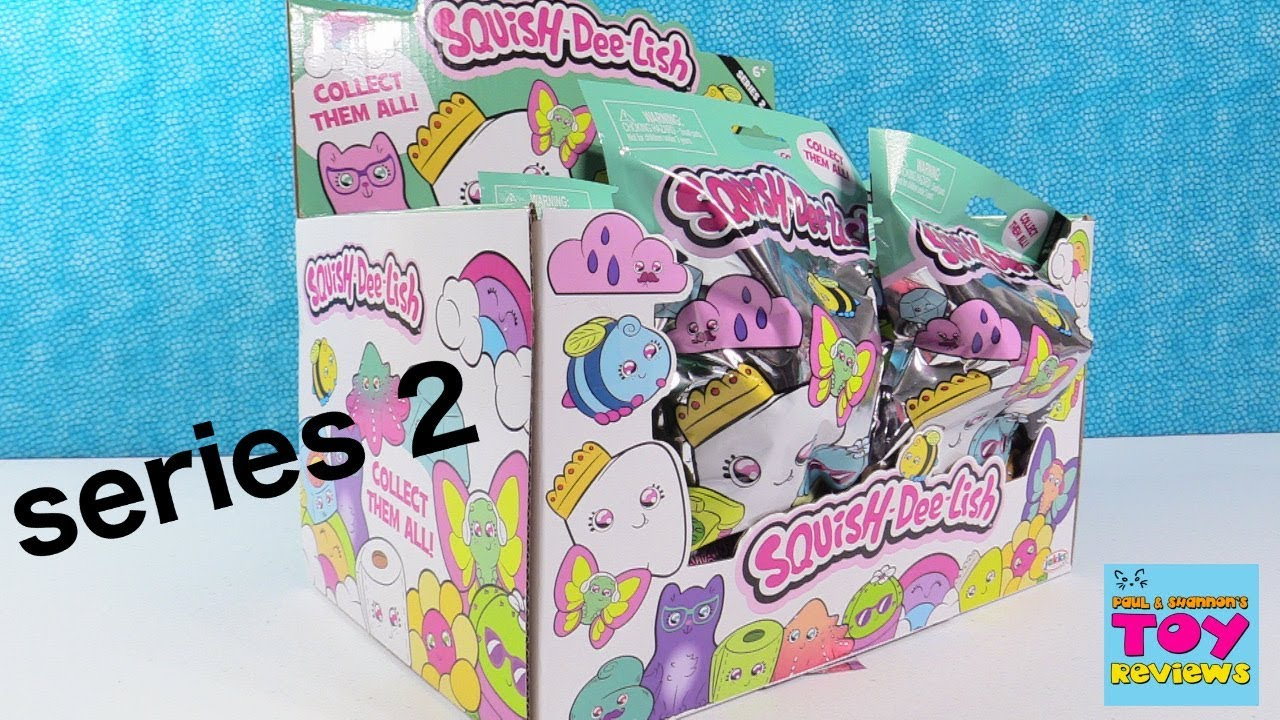 Squish-Dee-Lish Squishies Series 2 Full Box Opening Toy Review PSToyReviews - YouTube