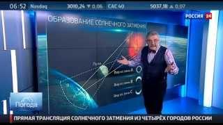 """""""Погода 24"""": солнечное затмение в России"""