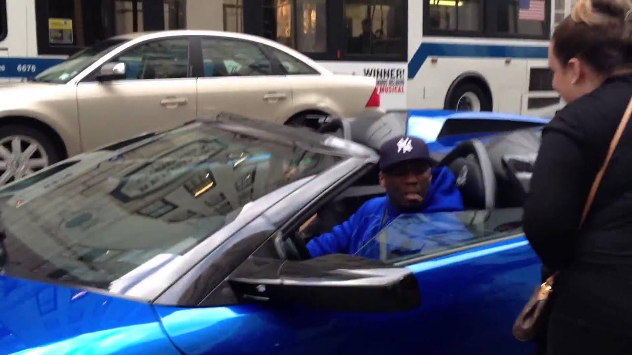 50 Cent Stuntin His Lamborghini Murcielago Downtown New York Youtube