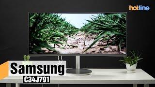 Samsung C34J791 — обзор монитора с изогнутым дисплеем
