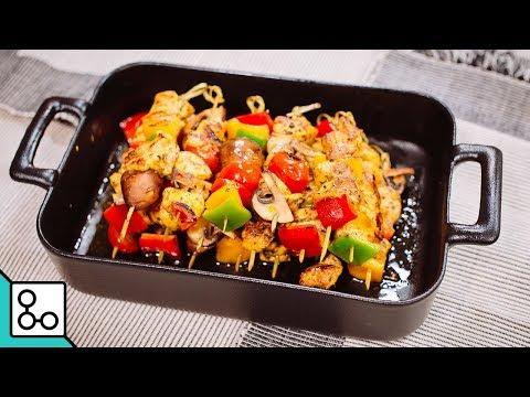 Brochettes de poulet mariné au curry - Youcook