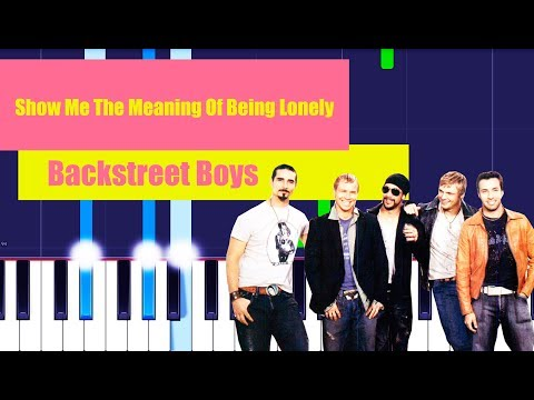 Backstreet Boys - Show Me The Meaning Of Being Lonely (Piano Tutorial EASY) By MUSICHELP