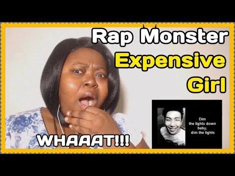 Rap Monster Expensive Girl Reaction [Lyrics]