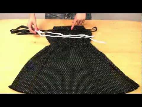 Как сшить платье на резинке: пришиваем юбку к верхней части