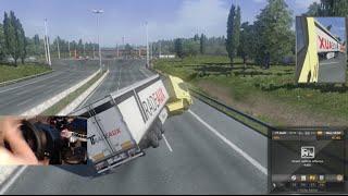 Euro Truck Sim 2 Trying to TWO WHEEL/ Highway Chicken w/Wheel Cam