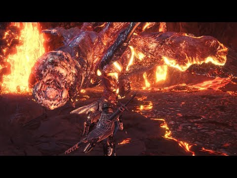 Monster Hunter World: Arch-Tempered Giant Lavasioth Boss Fight thumbnail