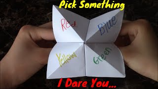 How to Make an Origami Fortune Teller- Super Easy