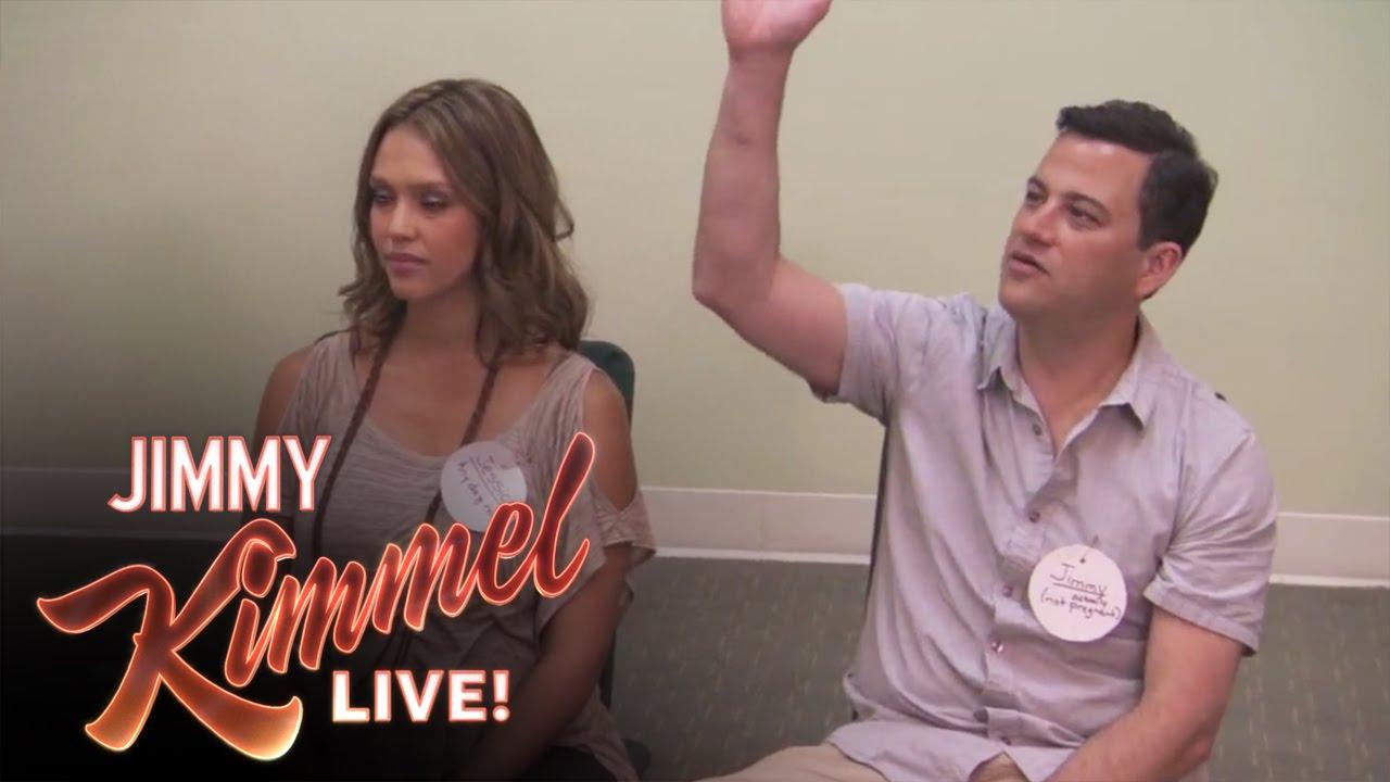 Jimmy Kimmel Takes Jessica Alba to Birthing Class